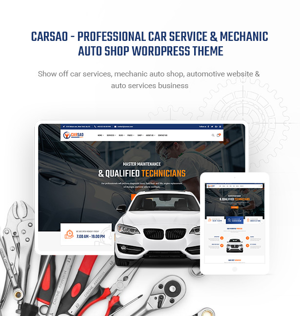 Carsao Responsive Car Service Wordpress Theme By Pavothemes Themeforest