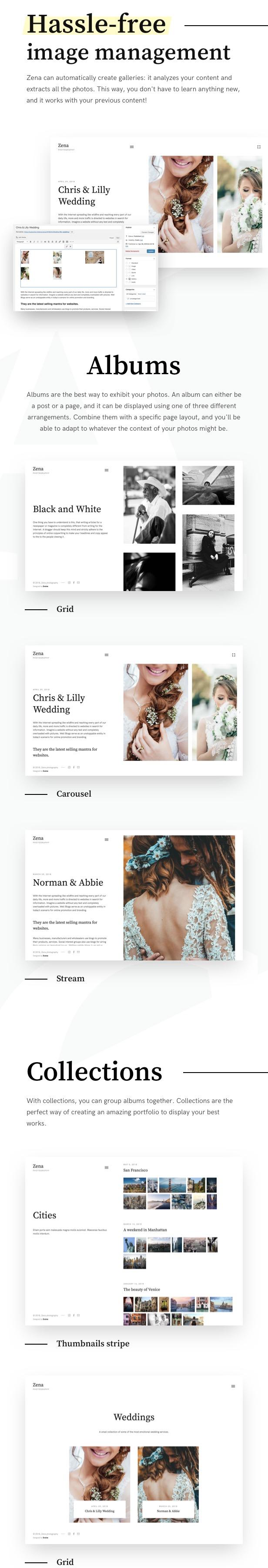 Zena, a minimalistic theme for photographers - 2