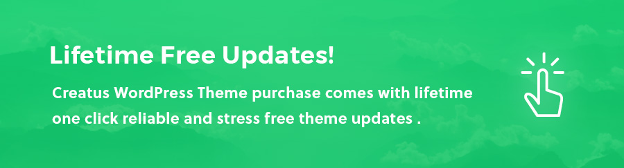 Get Lifetime Update with Creatus WordPress Theme Purchase