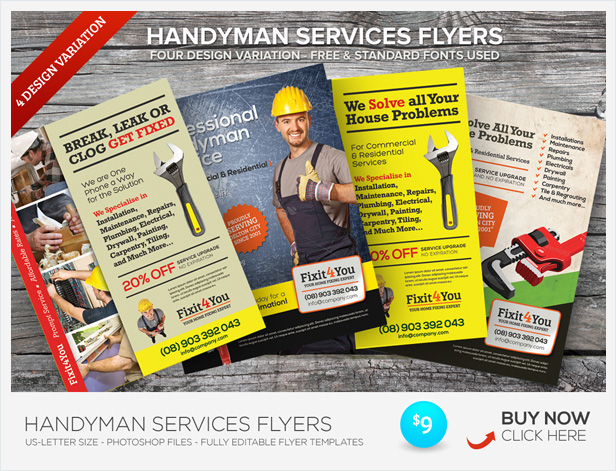 Handyman Services Roll Up Banners
