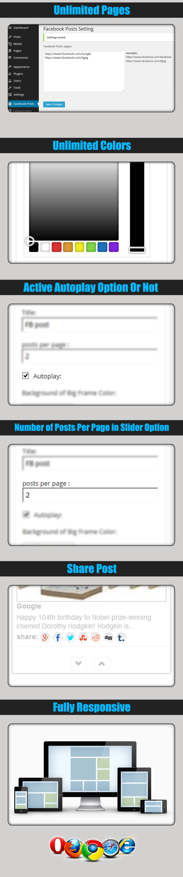 Multi FaceBook Pages & Groups Posts - 1