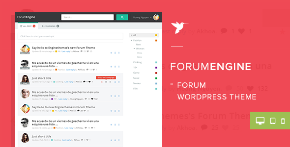 ForumEngine WordPress Theme