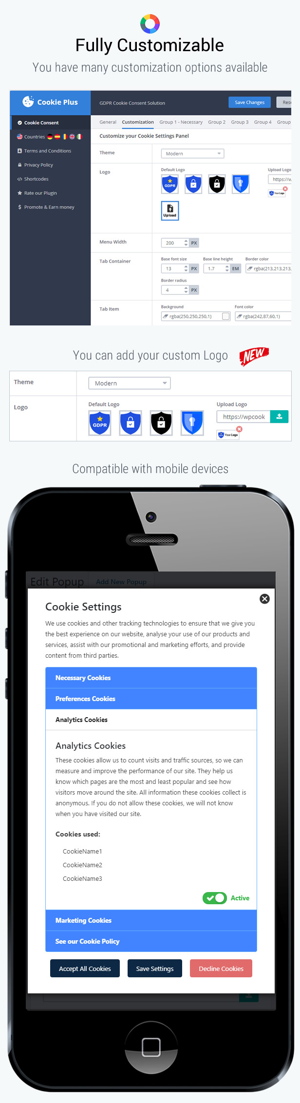 Cookie Plus - GDPR Cookie Consent Solution for WordPress - 11