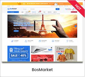 BosMarket - Esnek Çoklu Tedarikçi WordPress Teması