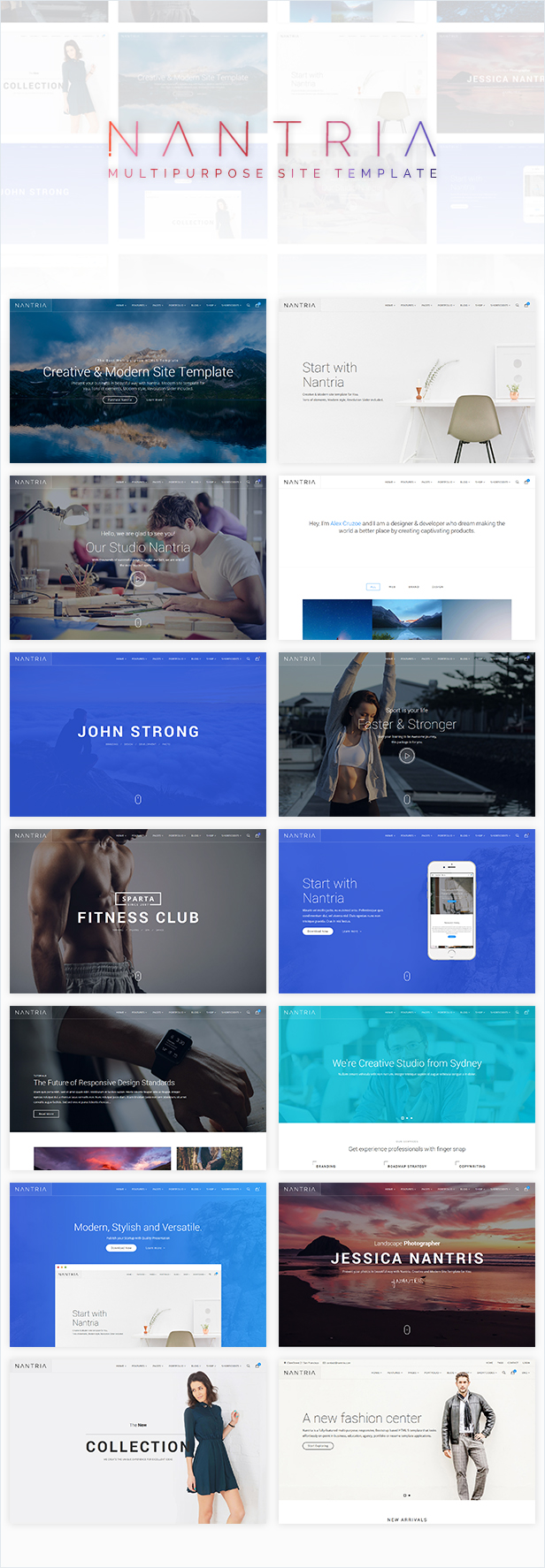 Nantria - Multi-purpose HTML5 Template