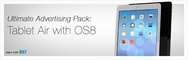 Animill - Ultimate Advertising Pack: iPad Air with iOS8