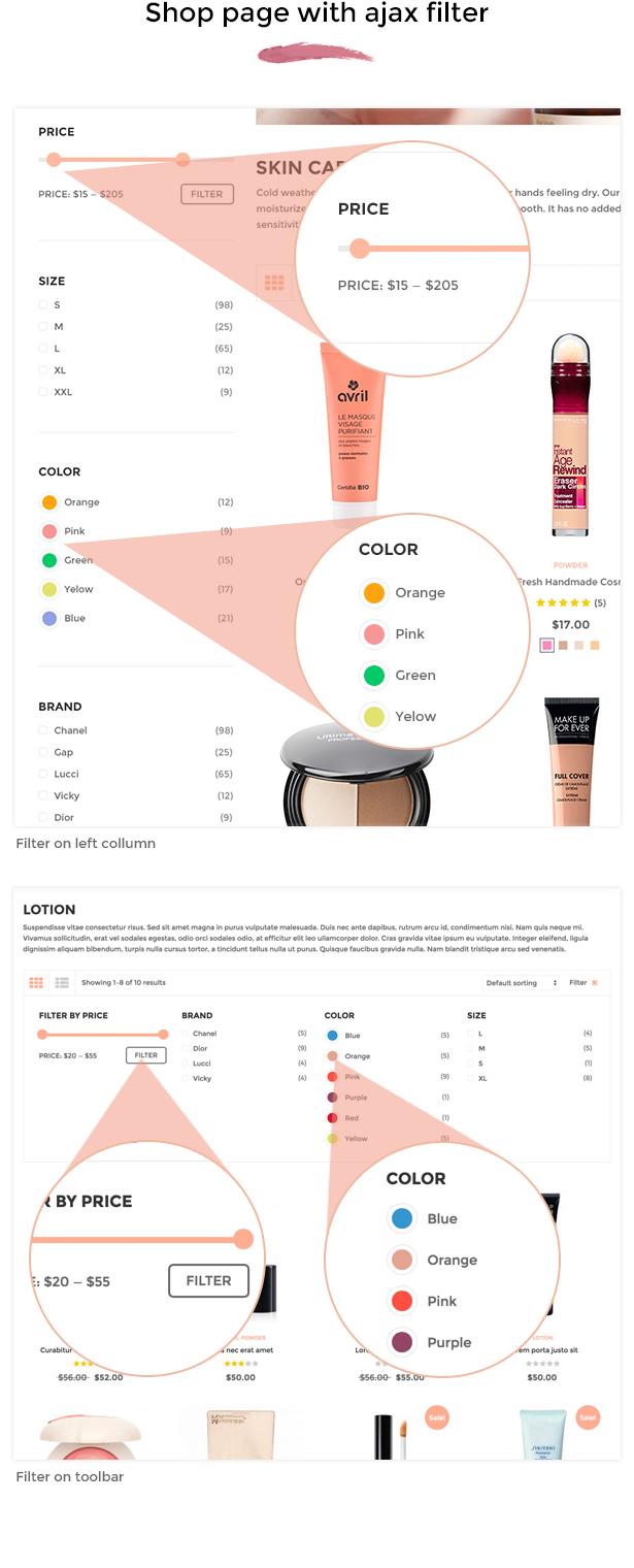 SNS Vicky - Cosmetic WooCommerce WordPress Theme - 8