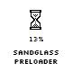 Sandglass preloader