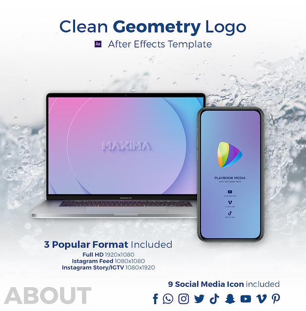 Clean Geometry Logo Reveal - 1