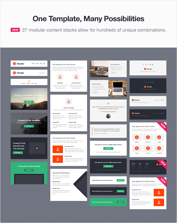 Oceanic modular responsive email template by templity for Yahoo ecommerce templates