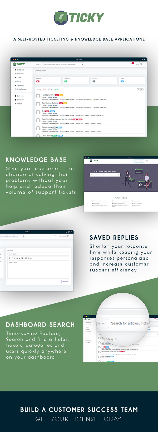 Ticky - Support Ticketing & Knowledge base System - 1