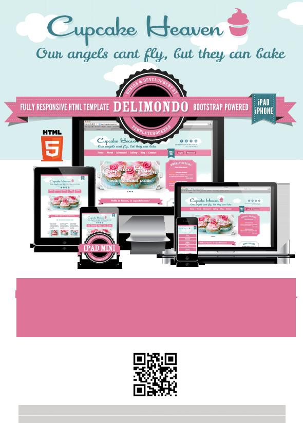 Delimondo Cupcakeheaven Fully Responsive HTML - 8
