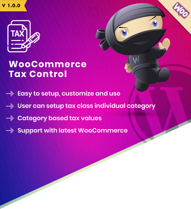 WooCommerce Tax Control Plugin For WooCommerce