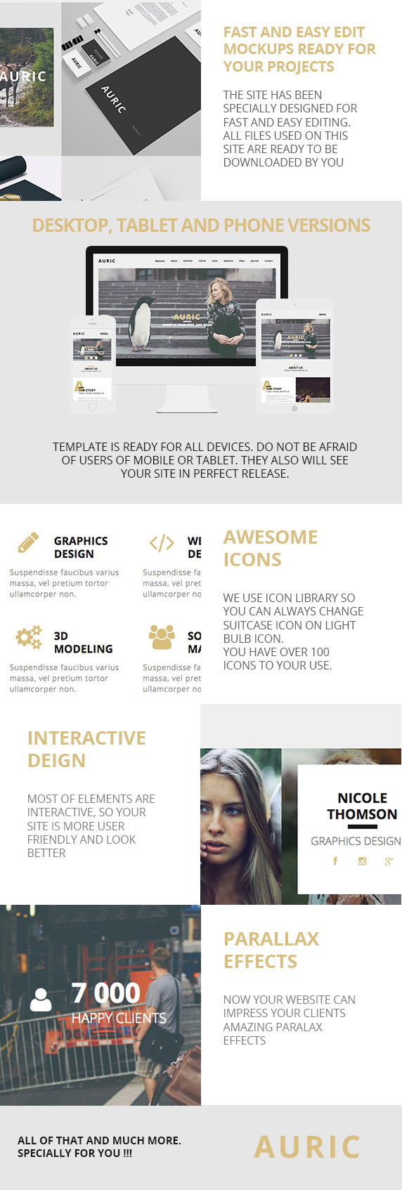 Auric - One Page Modern Muse Template - 3