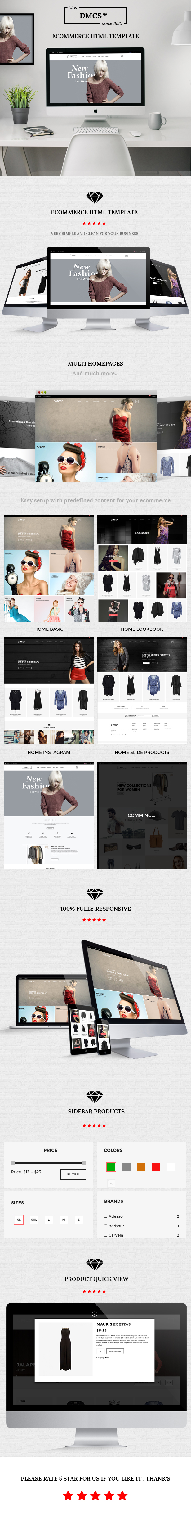 The DMCS - Ecommerce HTML Responsive Template by Kavindesign ...
