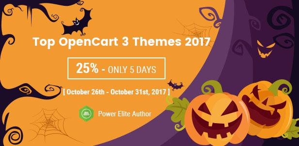 Halloween Big Sale - Top OpenCart 3 Theme 2017