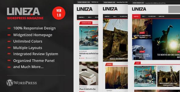 Lineza - Ultimate Unique Magazine PSD Template - 1