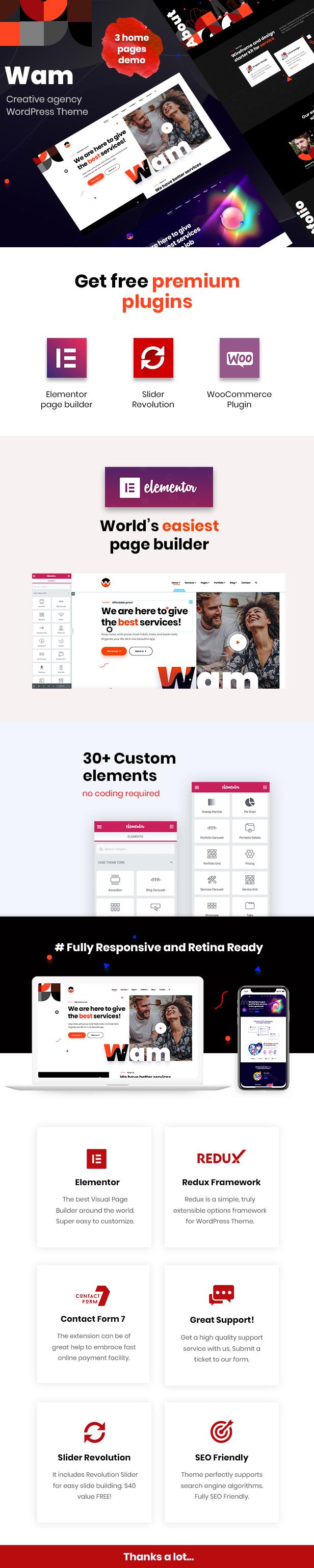 Wam - Creative Agency WordPress