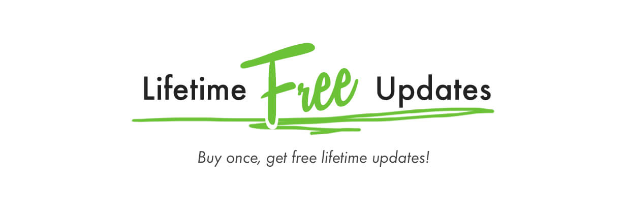 Buy Once and get lifetime free updates with Kalium theme