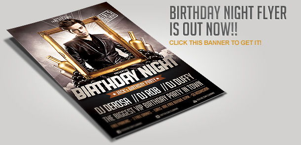 Birthday Party Invitation Flyer Template By Saltshaker - Birthday party invitation flyer template