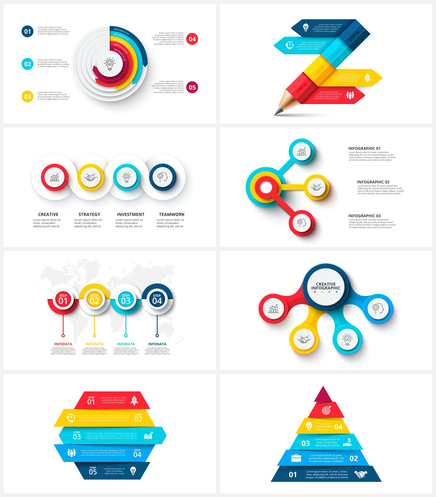 Multipurpose Infographics PowerPoint Templates v.5.0 - 108