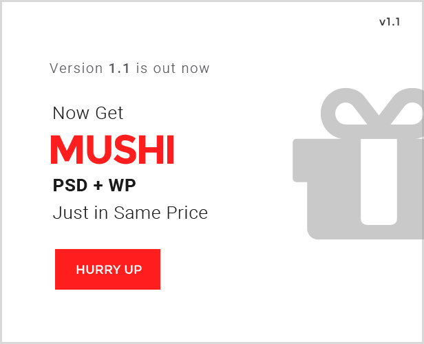 Mushi - Responsive Multi-Purpose & WooCommerce WordPress Theme