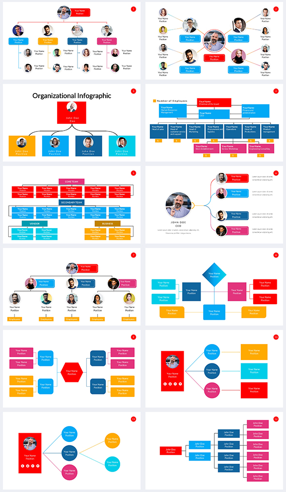 Organizational-chart-Infographic-Power-Point-Template