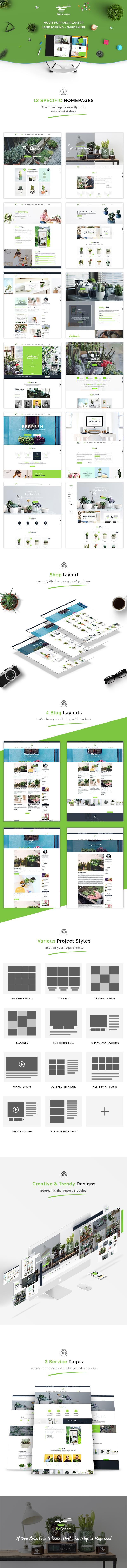 BeGreen - Multi-Purpose Template for Planter - Landscaping- Gardening - 2