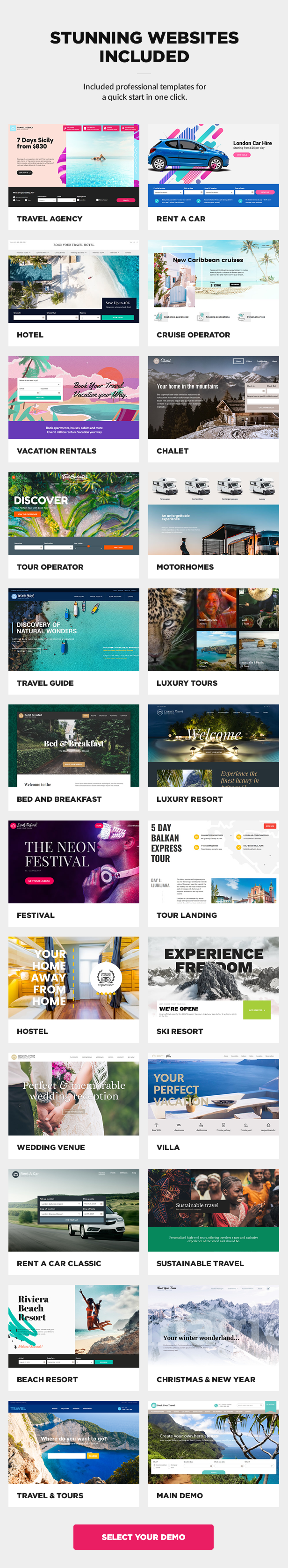Multipurpose travel booking WordPress theme