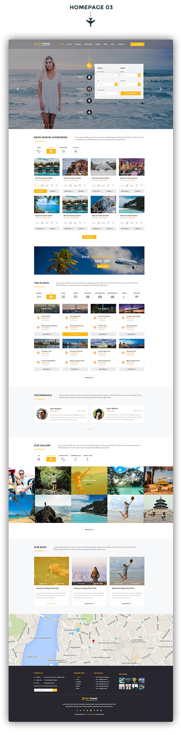 Travel PSD Template - 4