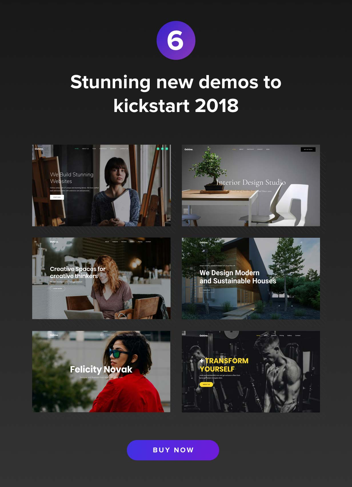 Oshine - 37 Demos Best Creative theme