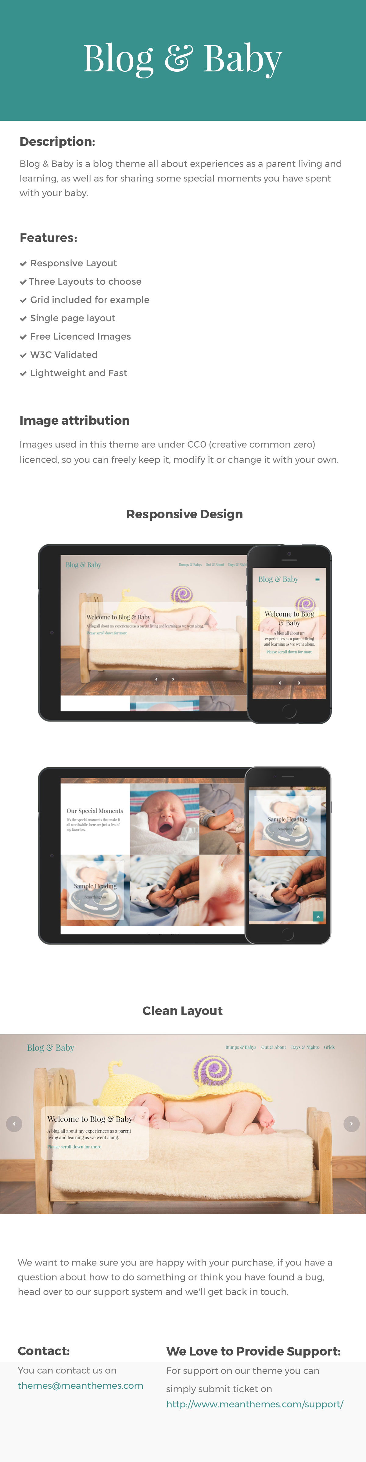 Blog & Baby - Responsive HTML Template For Baby Blogs by meanthemes