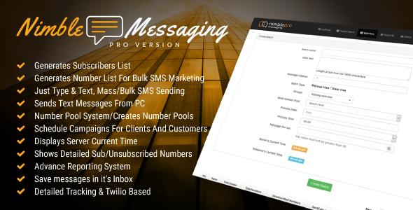Nimble Messaging Bulk SMS Marketing Application For Business Pro Version