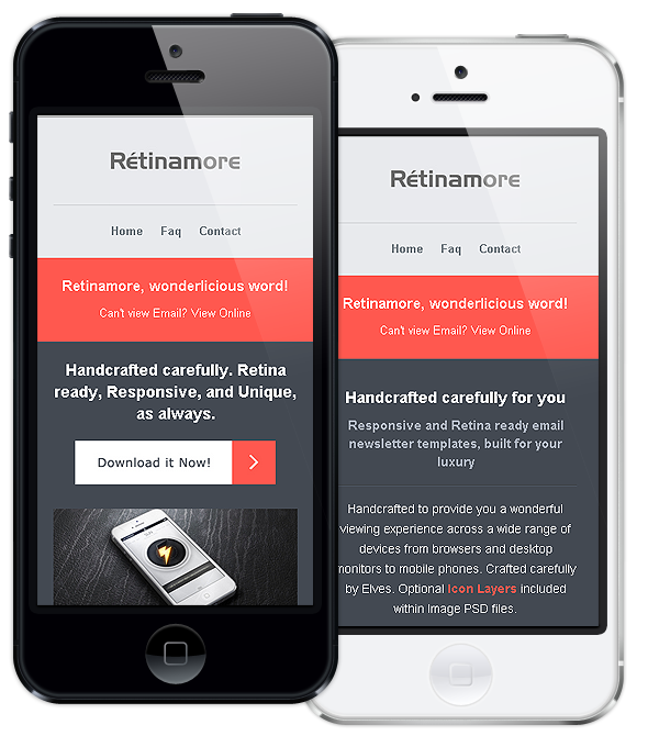 retinamore responsive email newsletter template by bedros