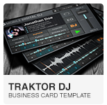 Mobile Traktor DJ Business Card PSD template