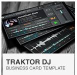 Mobile Traktor DJ Business Card PSD template