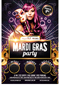 Mardi Gras Party Flyer - 5