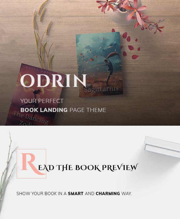 Odrin v1.3.1-面向作家的书籍销售WordPress主题