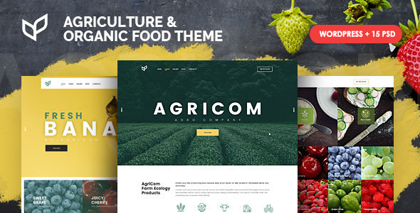 Agricom - Agriculture & Organic Food WordPress Theme Pack - Food Retail