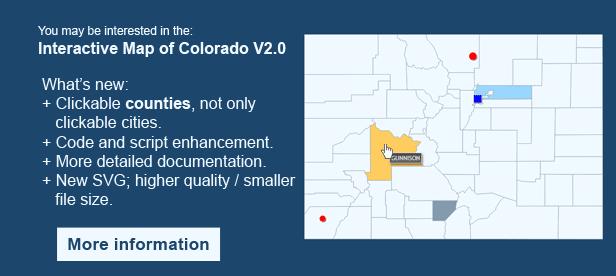 Interactive Map of Colorado - Clickable Counties