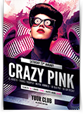 Crazy Pink Party Flyer