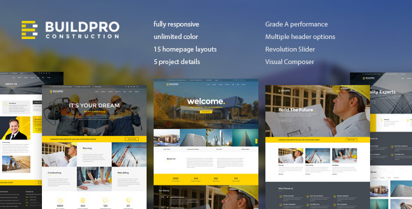 BuildPro - Business, Building & Construction WordPress Theme - Business Corporate
