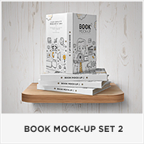 Square Book Mock-up / Dust Jacket Complete Edition - 3