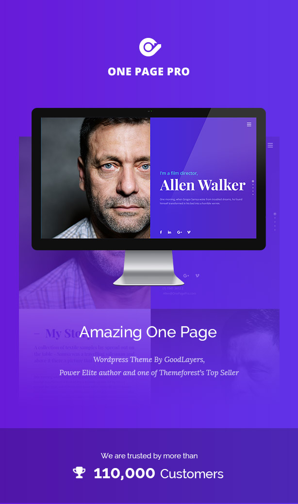 One Page Pro - Multi Purpose OnePage WordPress Theme - 1