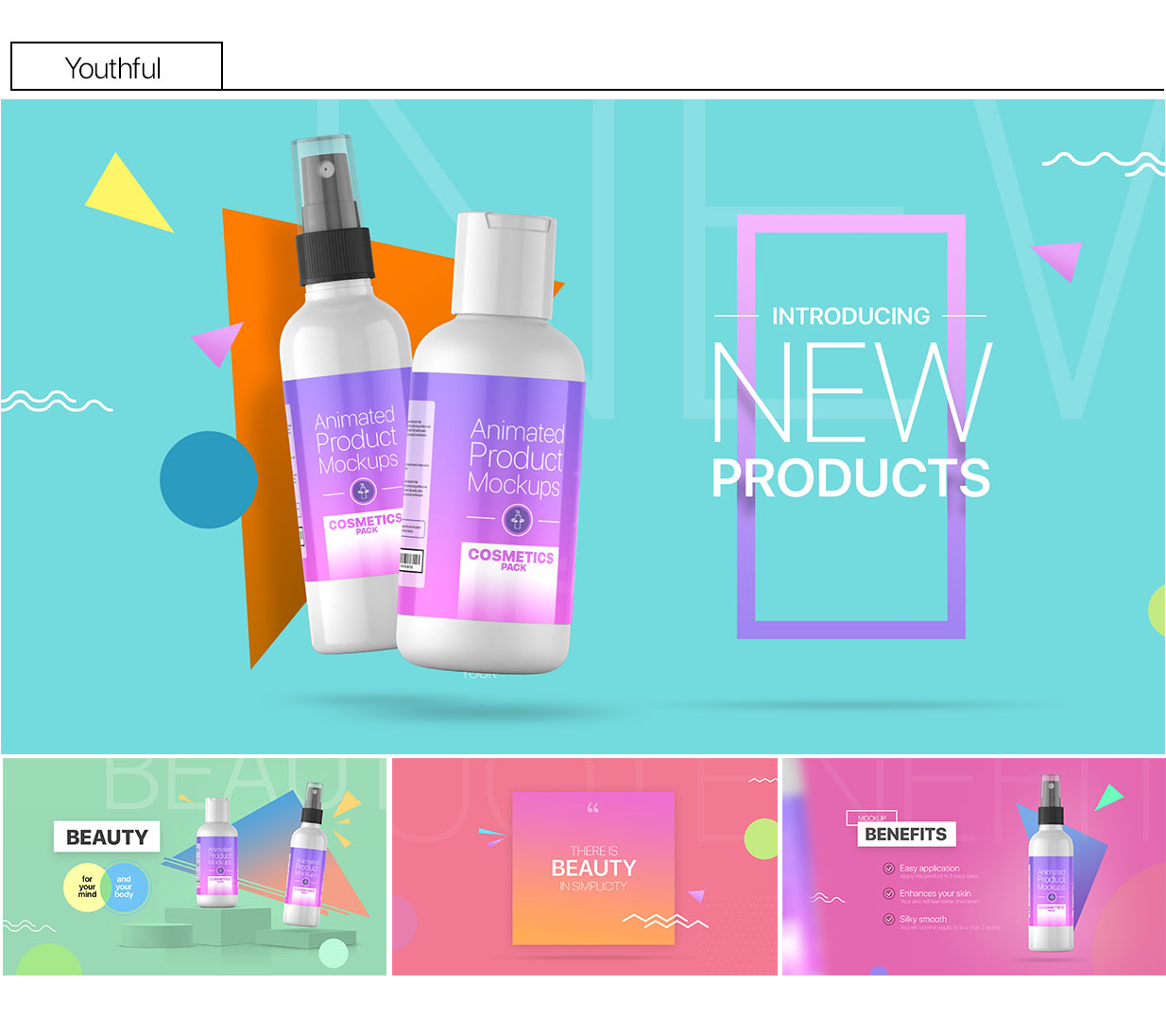 Animated Product Mockups - Cosmetics Pack - 8