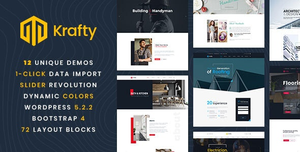 WordPress Theme For Home Repair & Constructions - Krafty