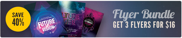 Futuristic Party Flyer Bundle