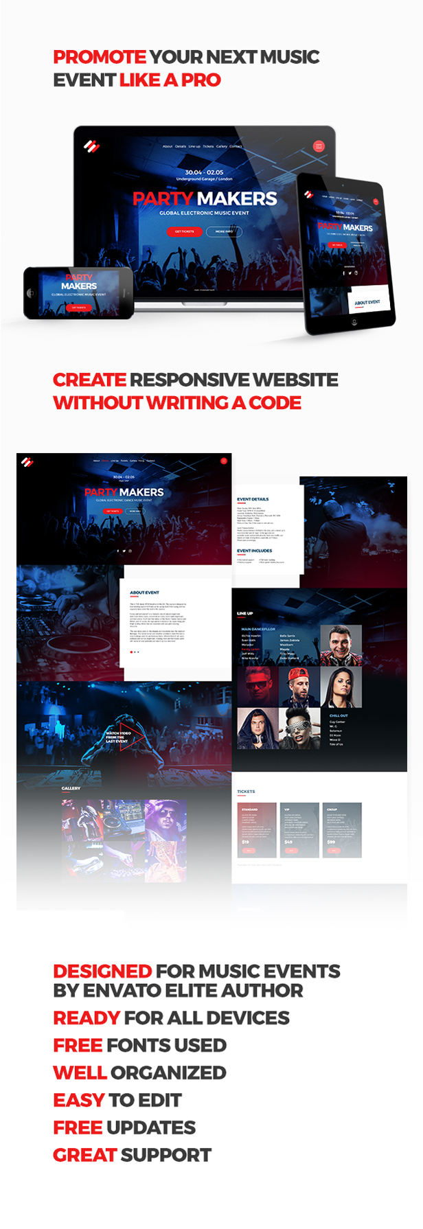 Party Makers - Music Event / Festival / DJ Party Responsive Muse ...