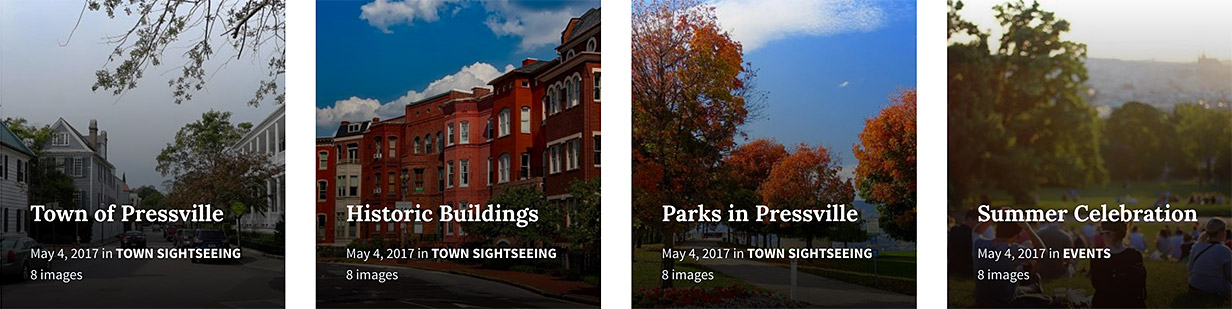 Galleries - Show stunning photo galleries of your town's most important assets, points of interest and architecture.