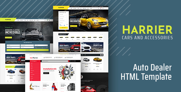 Harrier - Car Dealer HTML5 Template